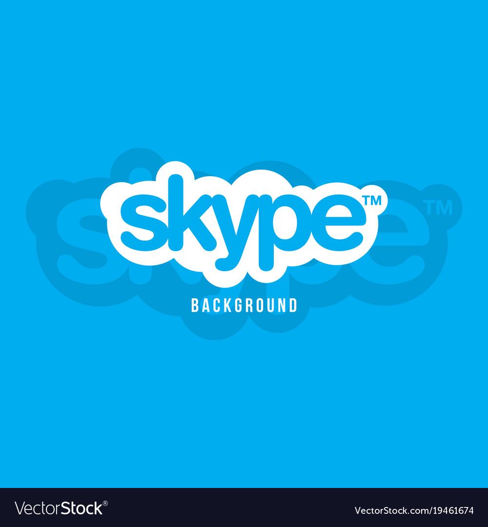 Skype logo background image