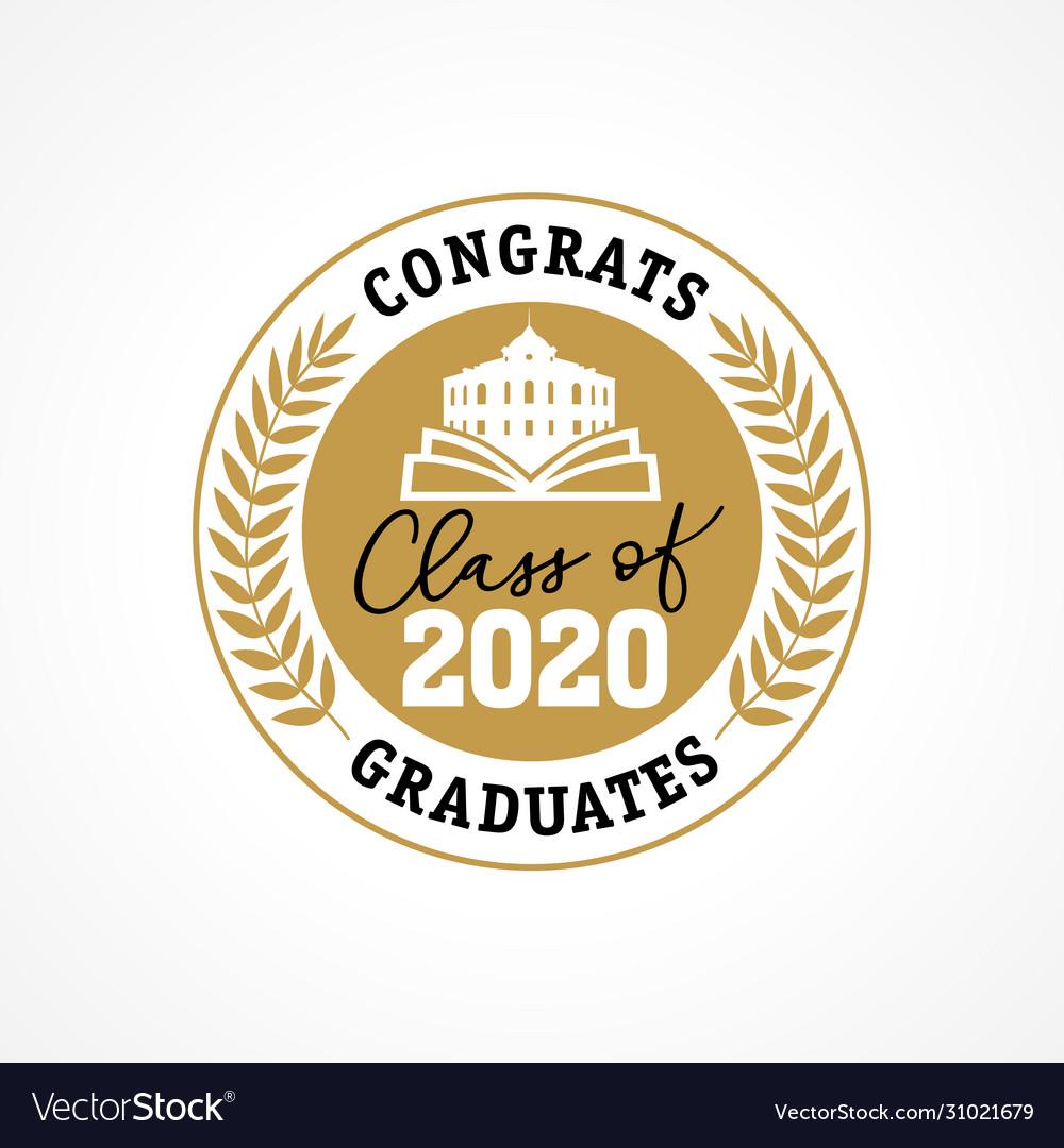 Class 2020 golden wreath congrats graduates