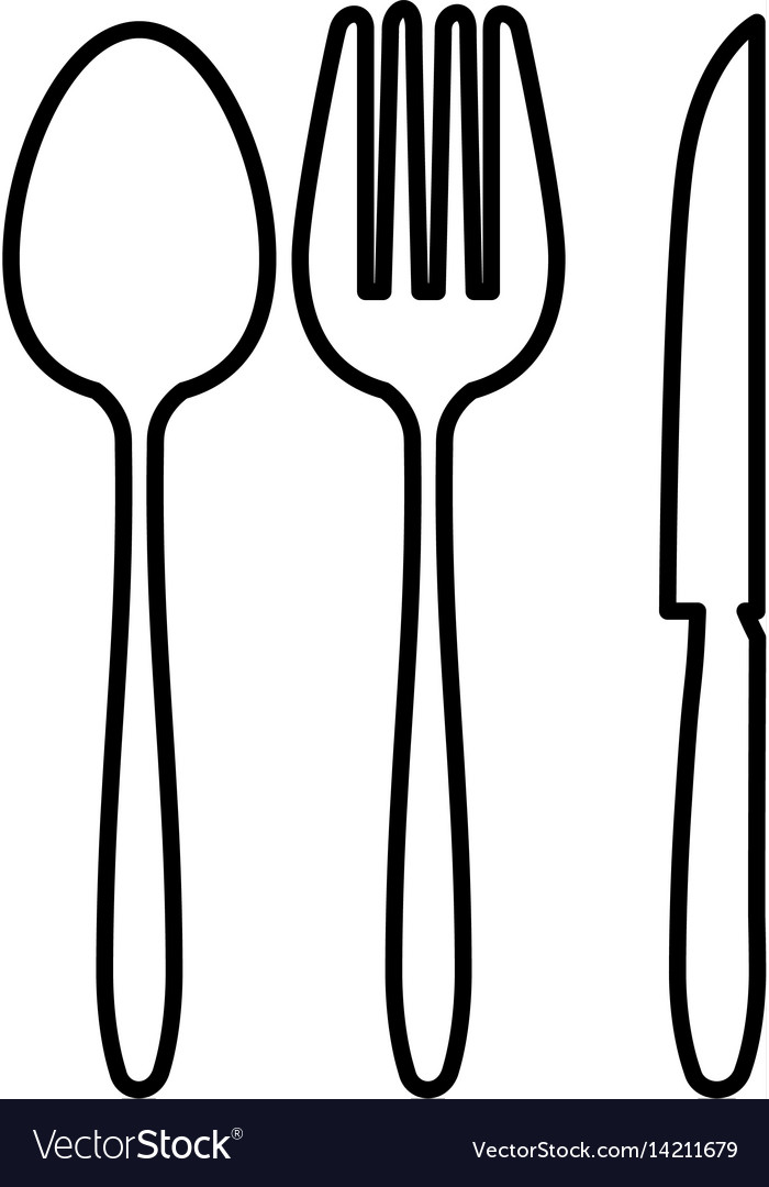 Cutlery set isolated icon vector image
