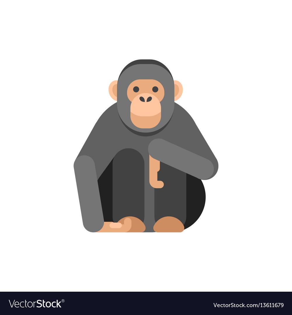 Flat style of monkey
