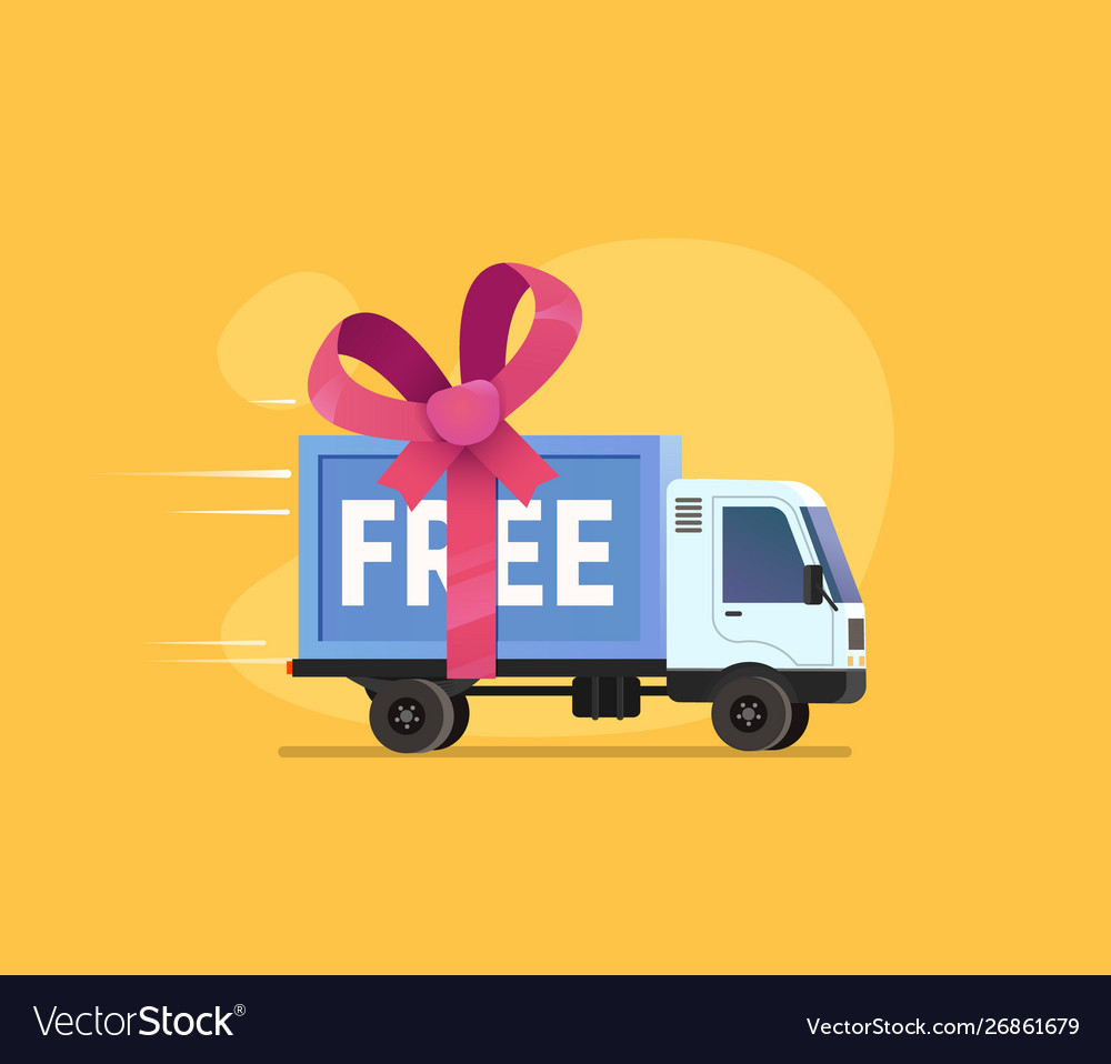 Free shipping isolated