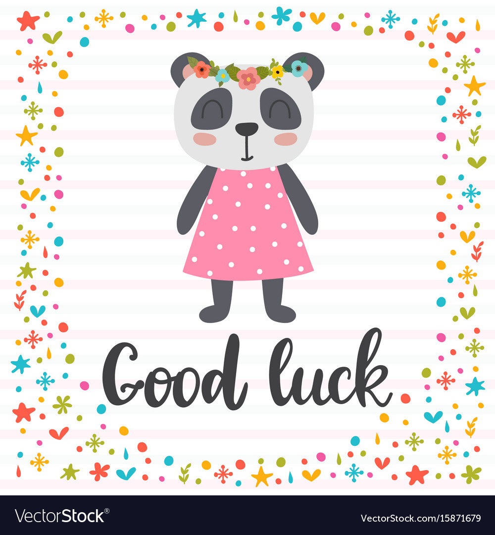Good luck inspirational quote hand drawn