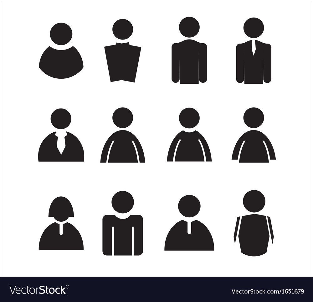 Human Icons Royalty Free Vector Image Vectorstock Download 1,054 vector icons and icon kits.available in png, ico or icns icons for mac for free use. vectorstock
