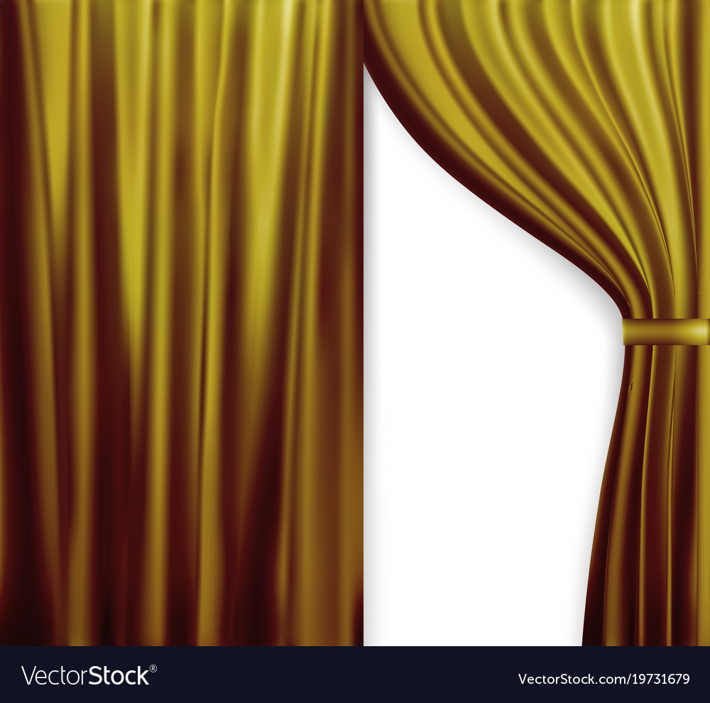 Naturalistic image of curtain open curtains red