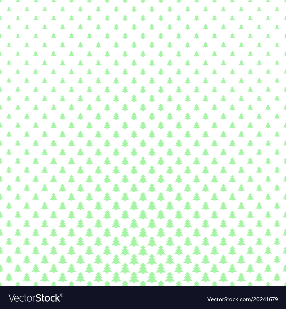 Simple geometric pine tree pattern background vector image