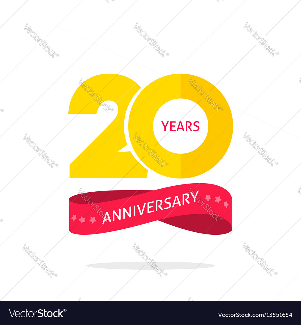 20 years anniversary logo template 20th royalty free vector 20 years anniversary logo template 20th vector image altavistaventures Image collections