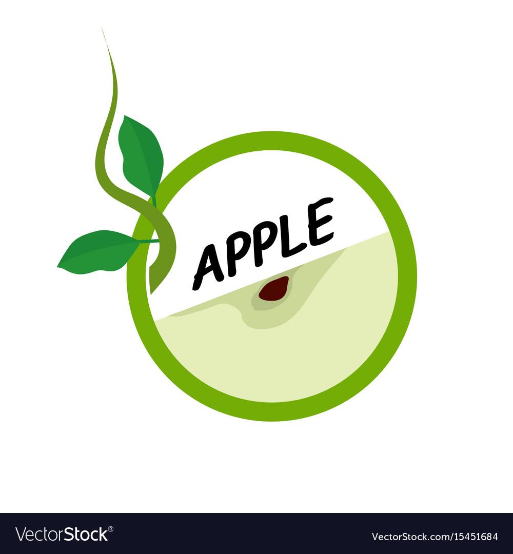 Apple fruit icons flat style