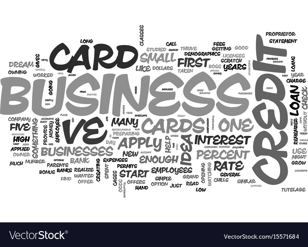 Apply for a business credit card online the vector image reheart