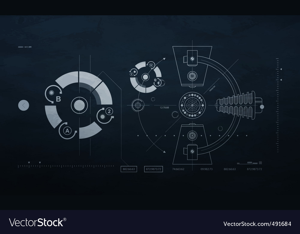 Drawing mechanism on a dark vector image