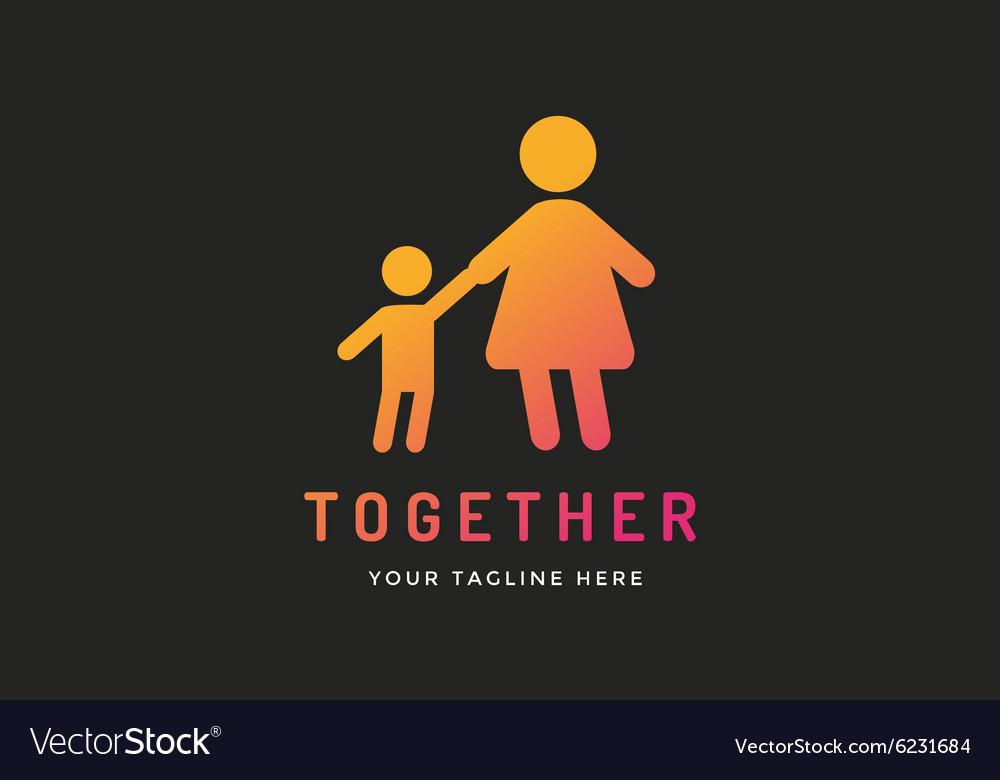 Happy family logo template