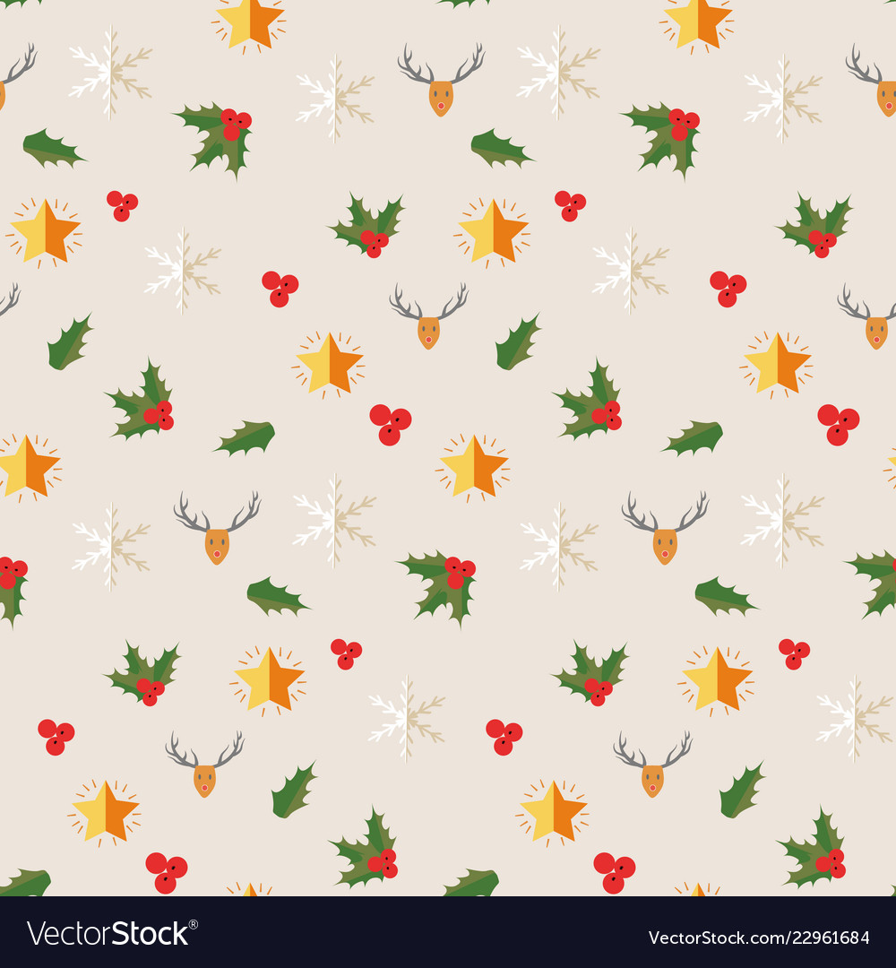 Happy new year symbols seamless pattern