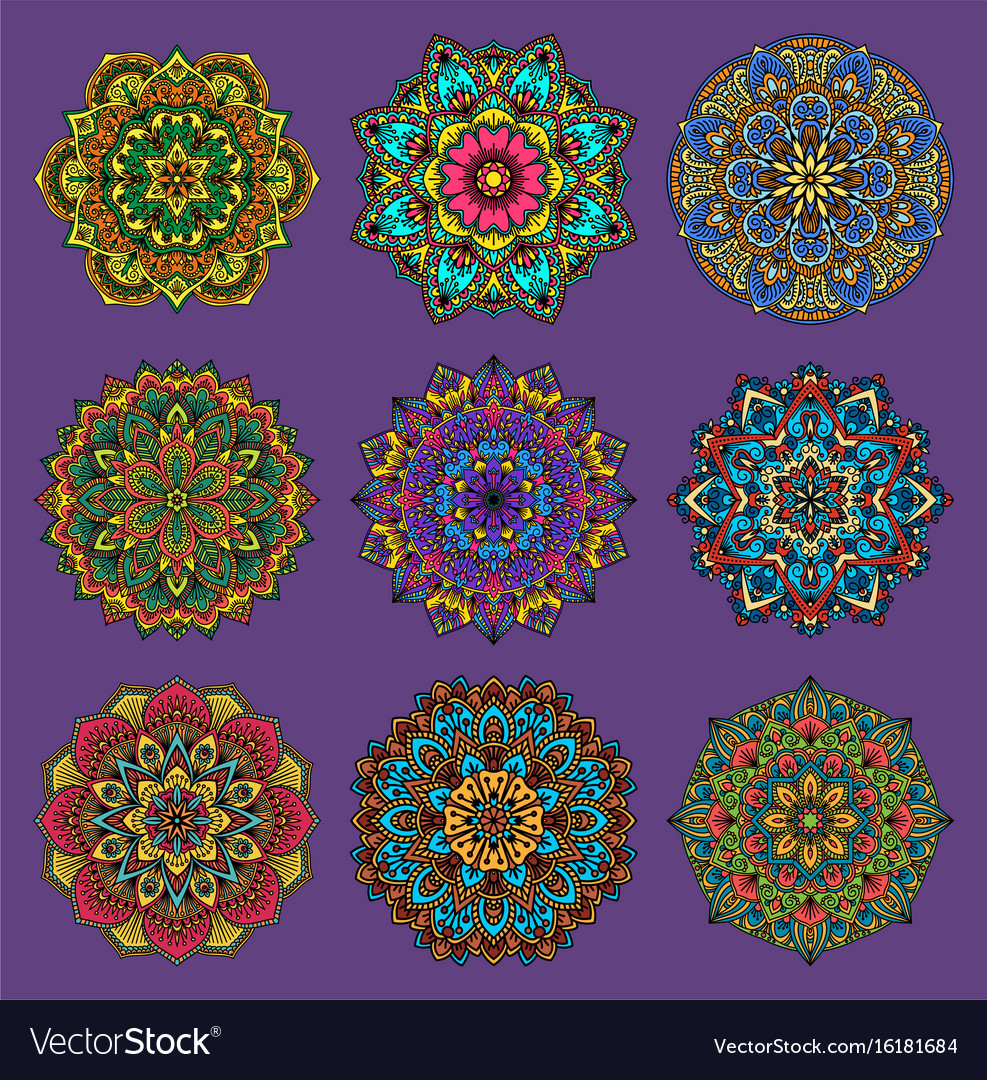 Mandala traditional flower pattern flower vector image