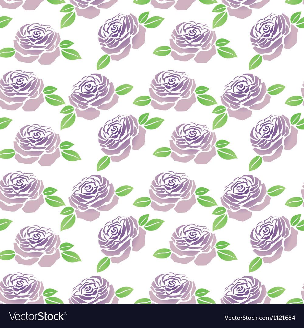 Pattern of purple flowers roses