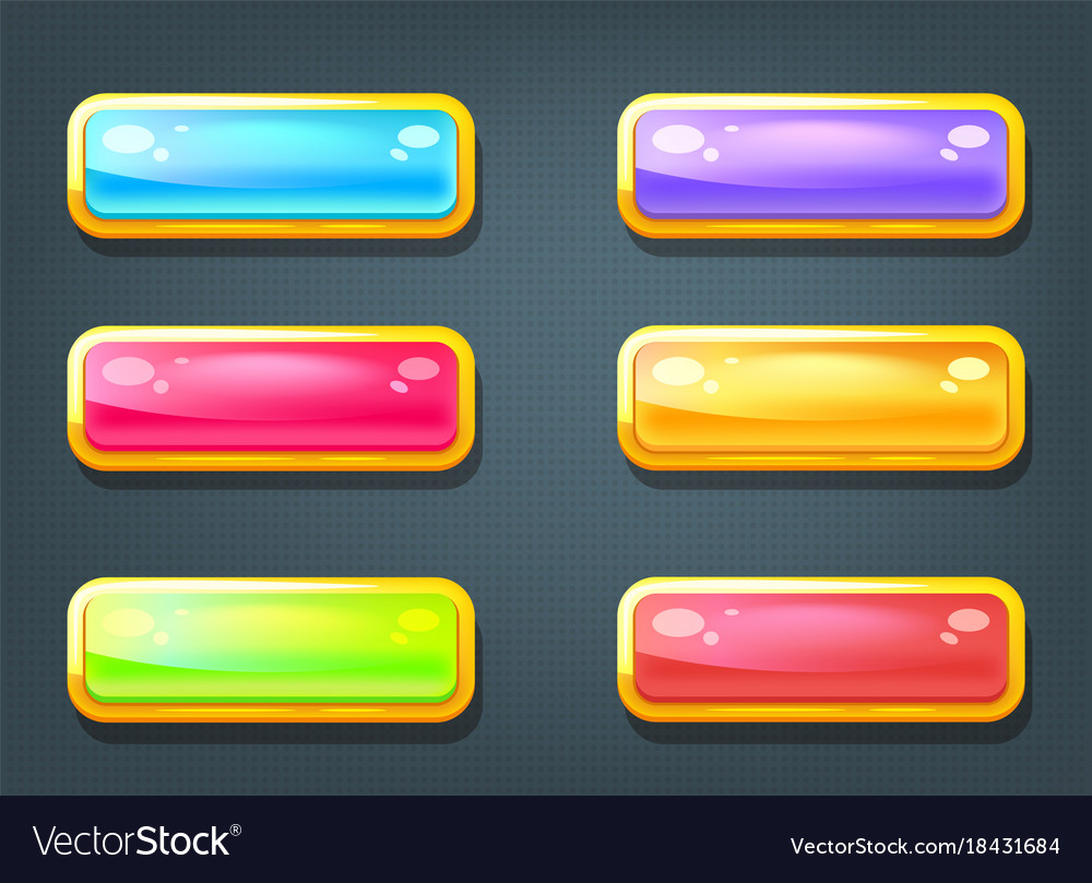 Set of game colorful buttons