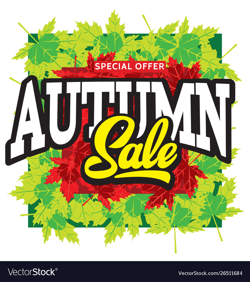 Template for design advertising on autumn