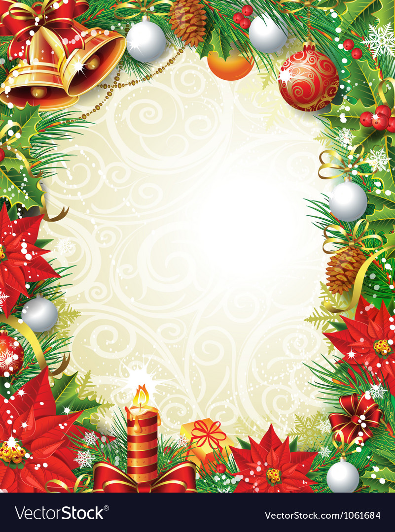 vintage christmas background royalty free vector image