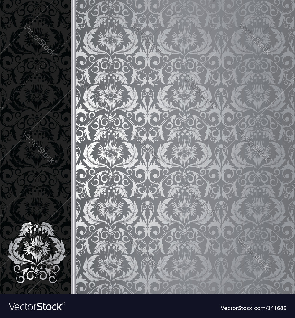 Black and silver background
