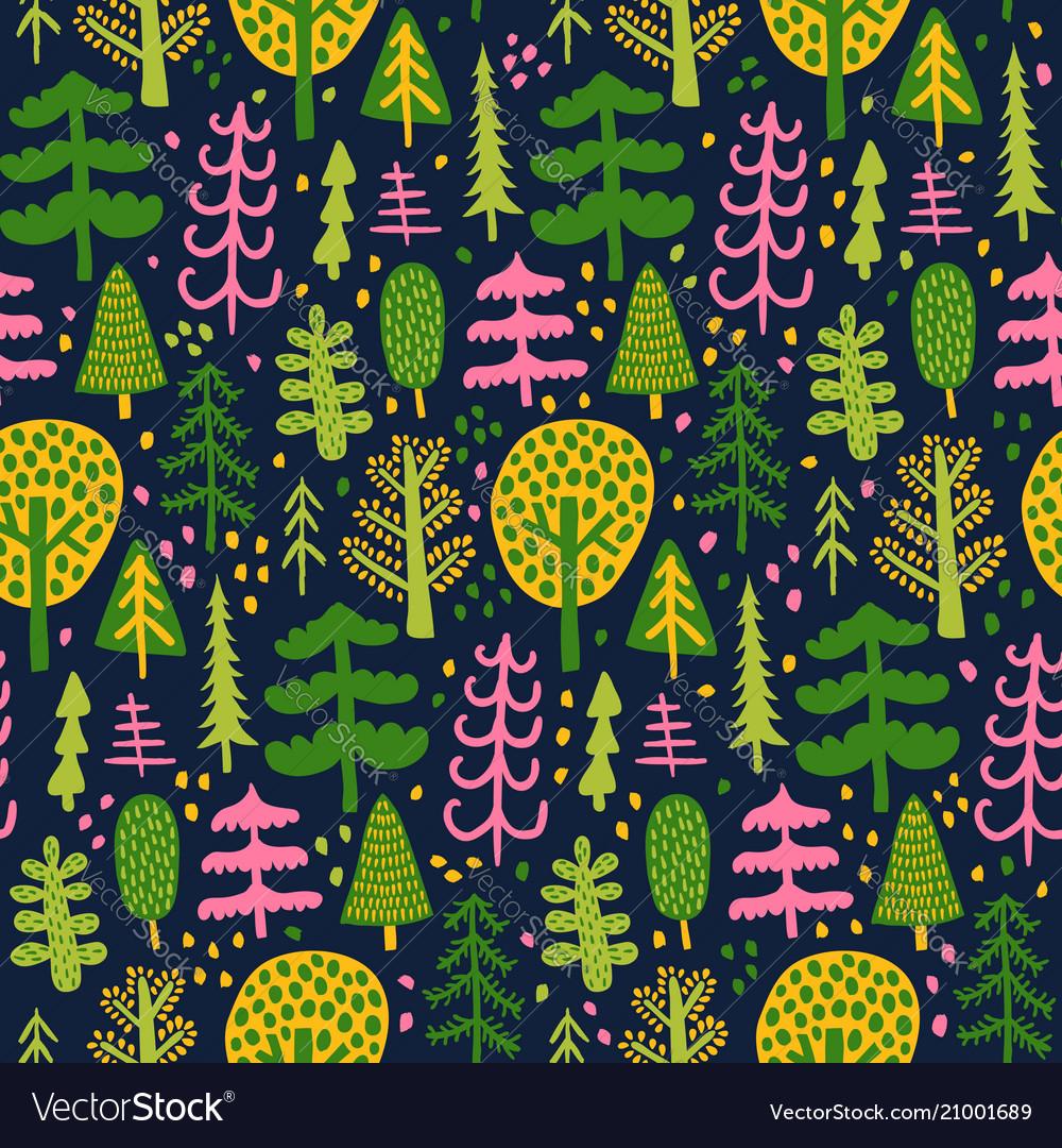Bright tree pattern