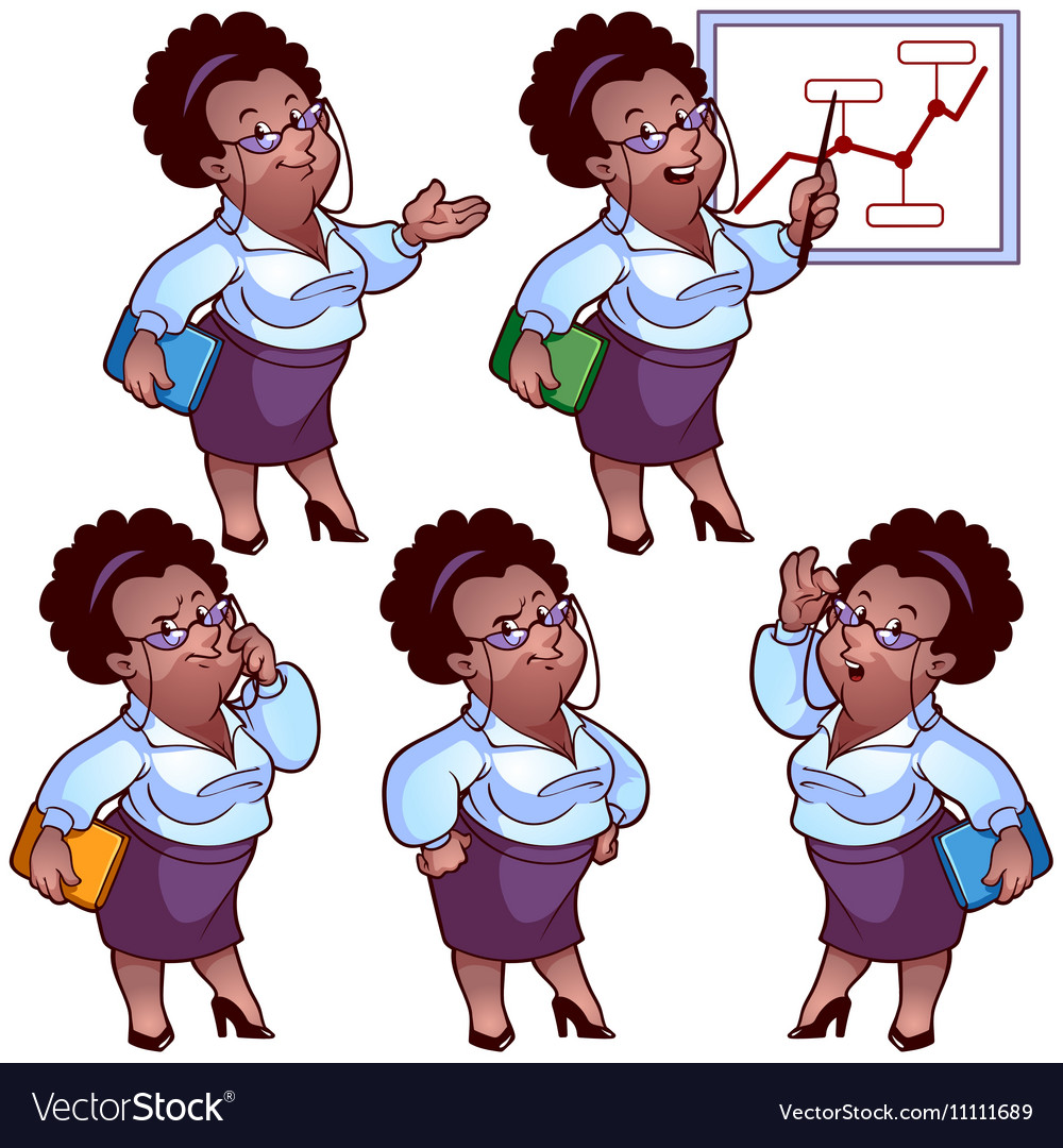 Business woman cartoon character set