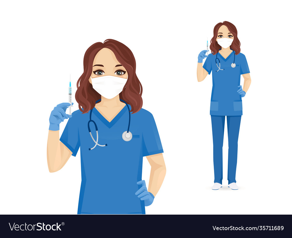 Female nurse character