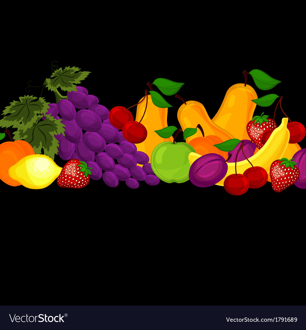 Fruit design borders isolated on white