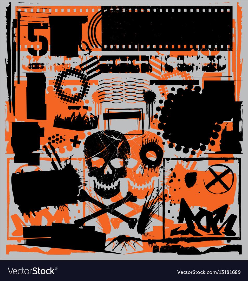 Grunge design elements set