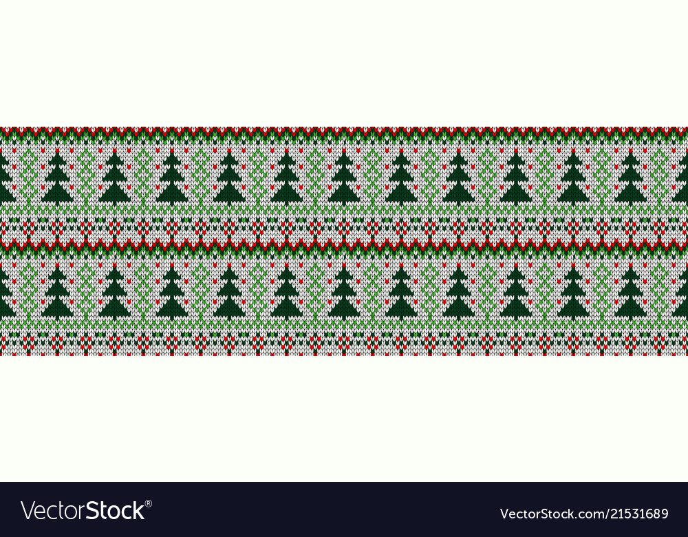 Knitted seamless color christmas pattern