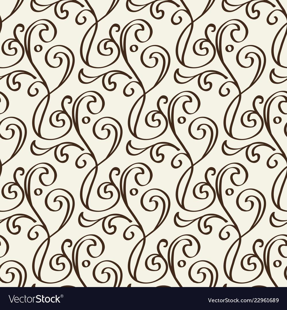 Monochrome floral vintage seamless pattern