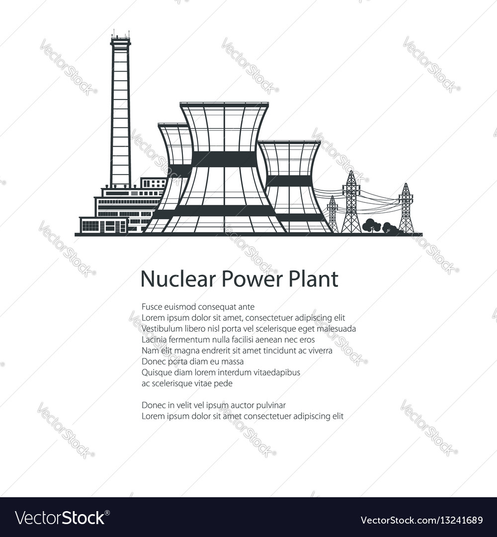 Nuclear reactor and power lines brochure design