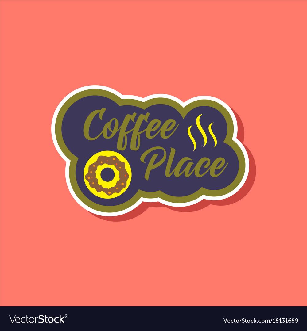 flat coffee logo designcoffee logo isolated on