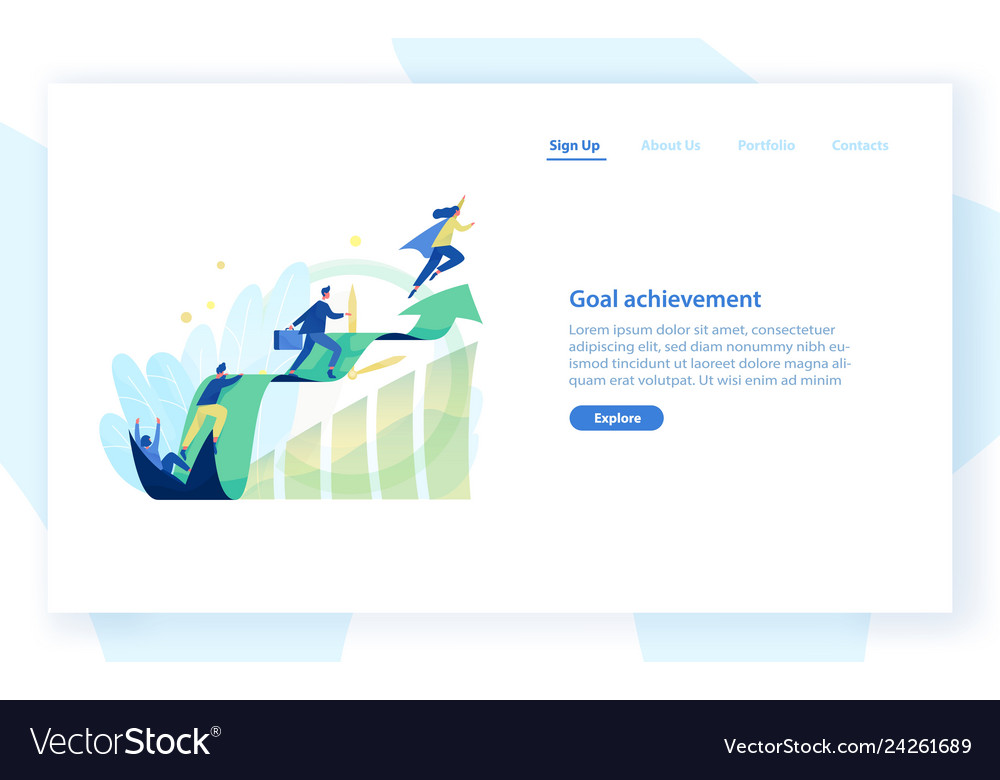 Website template with people office workers