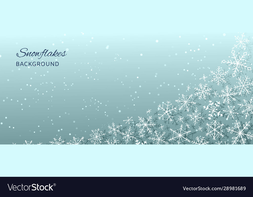 Winter holiday and christmas abstract background