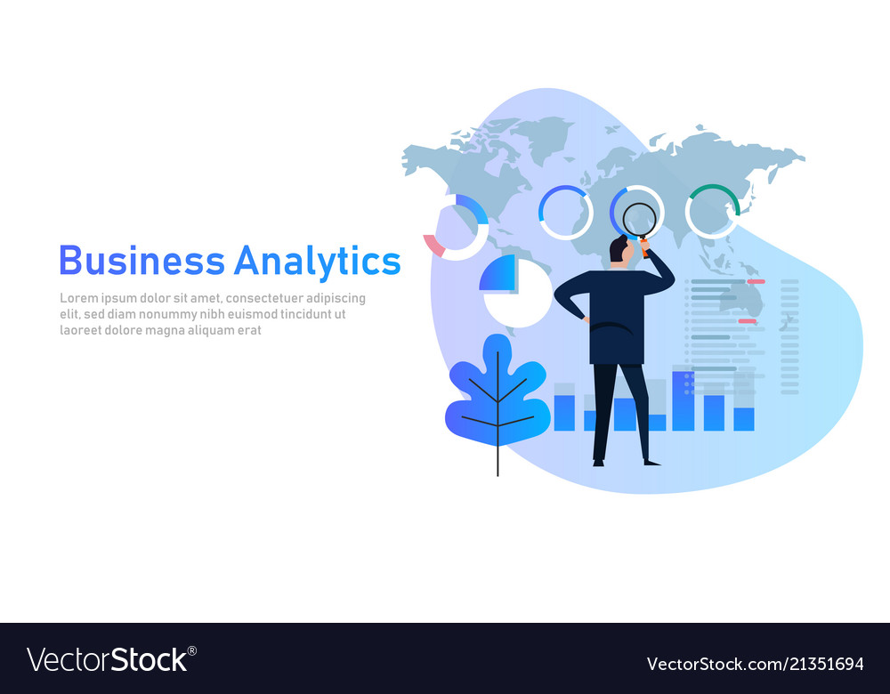 Business analytics analysis graph financial