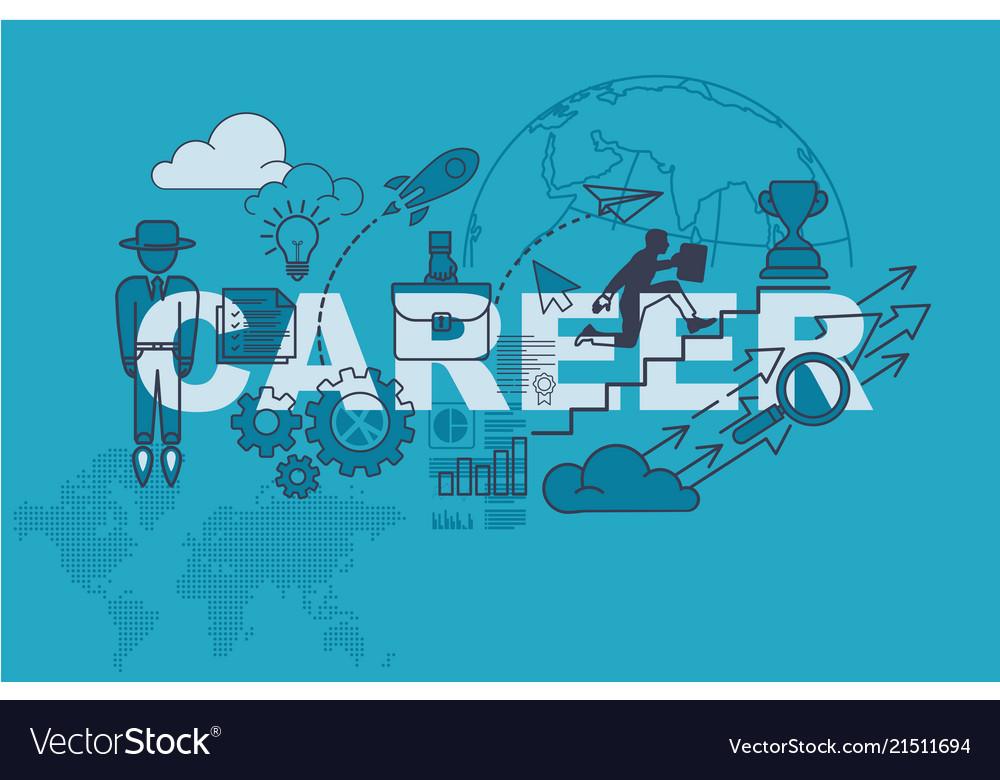 Career Banner Background Design Concept Royalty Free Vector