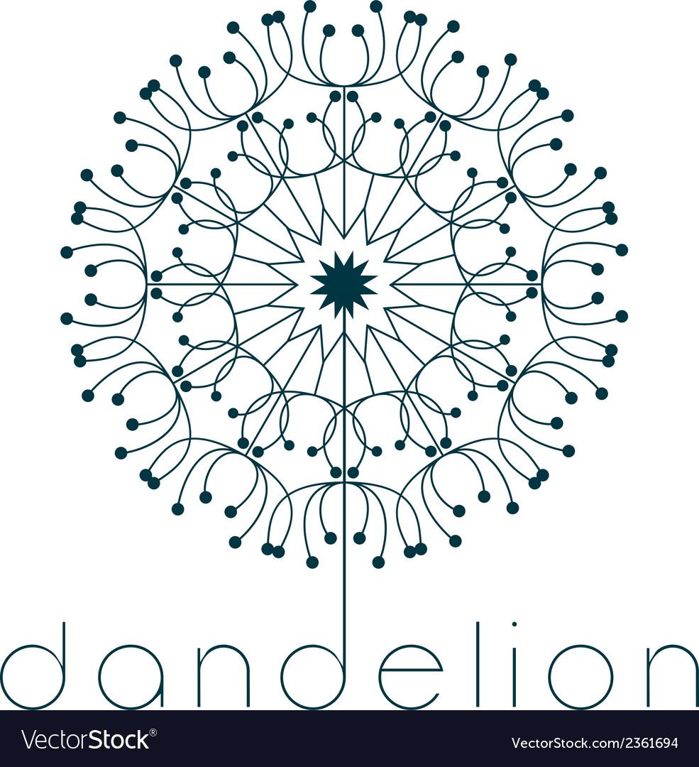 Dandelion Symbol Royalty Free Vector Image Vectorstock