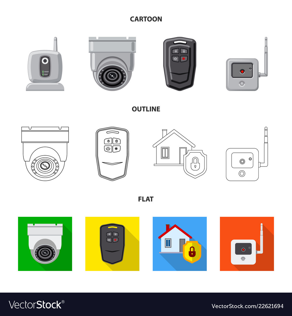 Design Of Office And House Symbol Set Of Vector Image