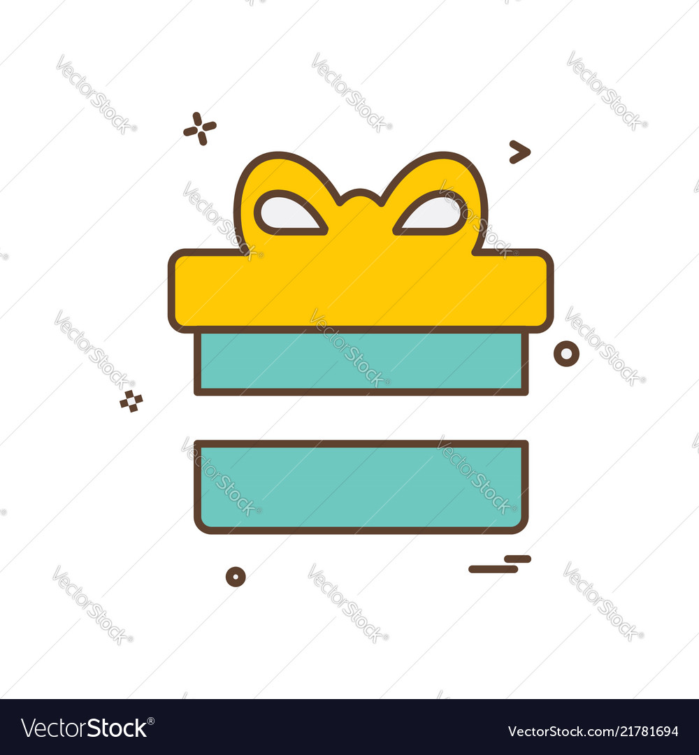 Gift box icon design