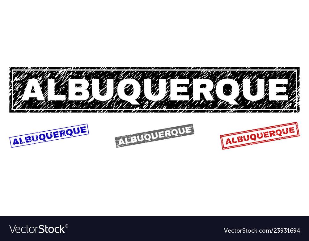 Grunge albuquerque textured rectangle watermarks