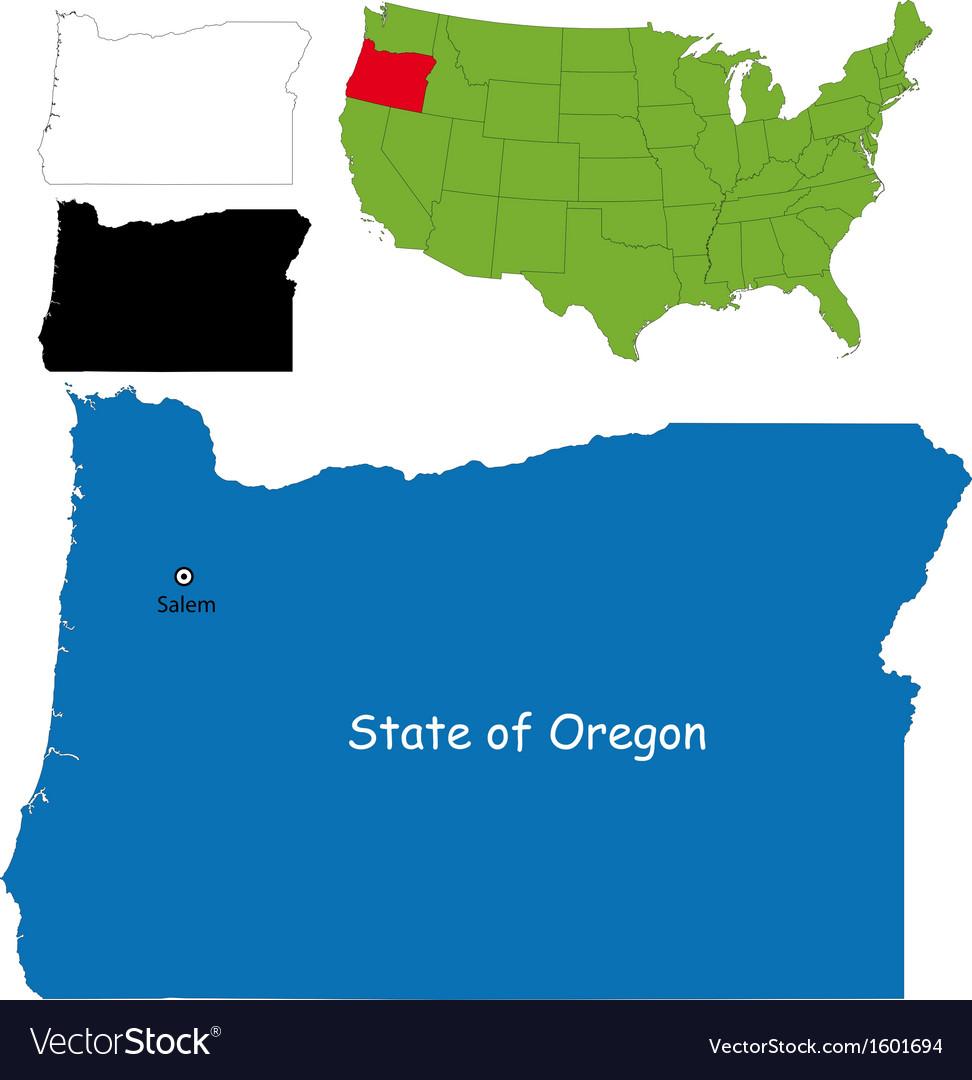 Free Oregon Map.Oregon Map Royalty Free Vector Image Vectorstock