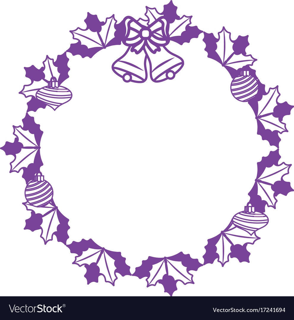 Christmas Wreath Silhouette.Silhouette Christmas Wreath Garland With Christmas