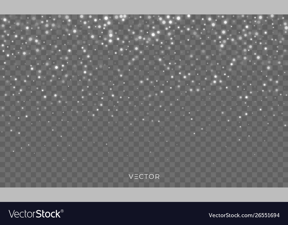 Snow fall shiny snowflakes overlay background