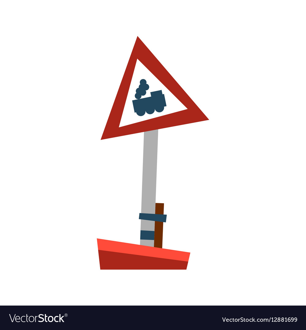 Attention train road sign