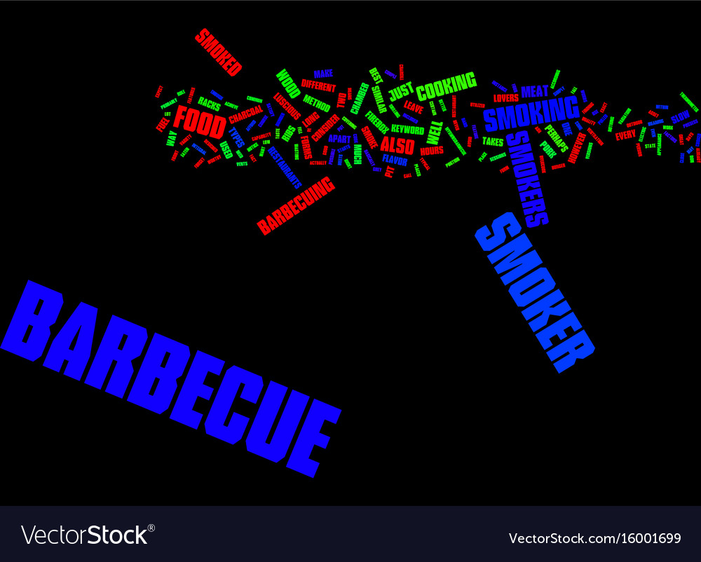Barbecue tips text background word cloud concept