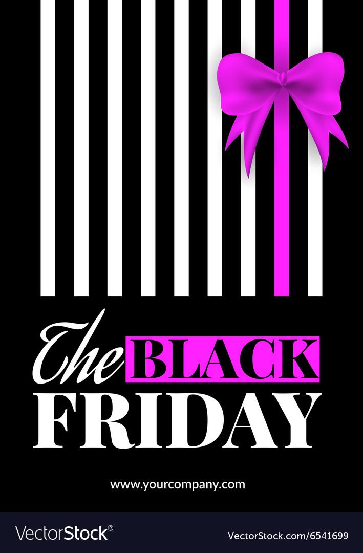 Black Friday Sale Flyer Royalty Free Vector Image