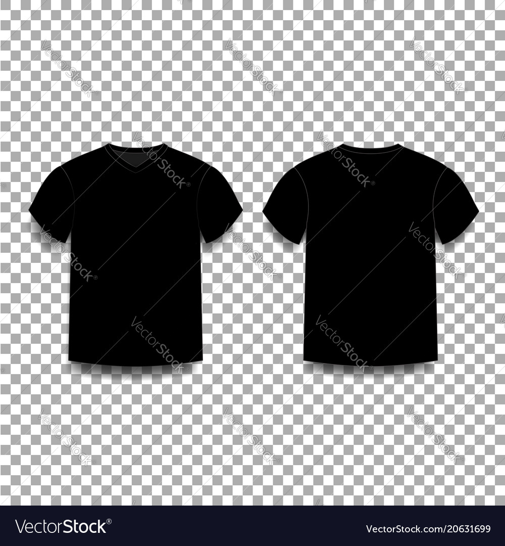 black men s t shirt template v neck front and vector image
