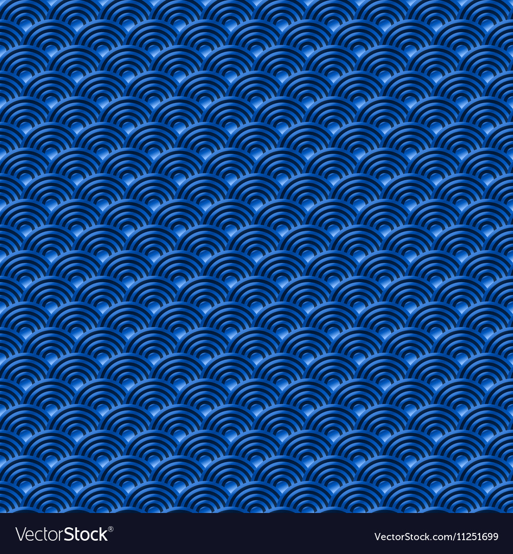 Chinese blue seamless pattern dragon fish scales