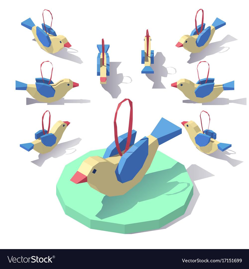 Christmas tree toy birdie