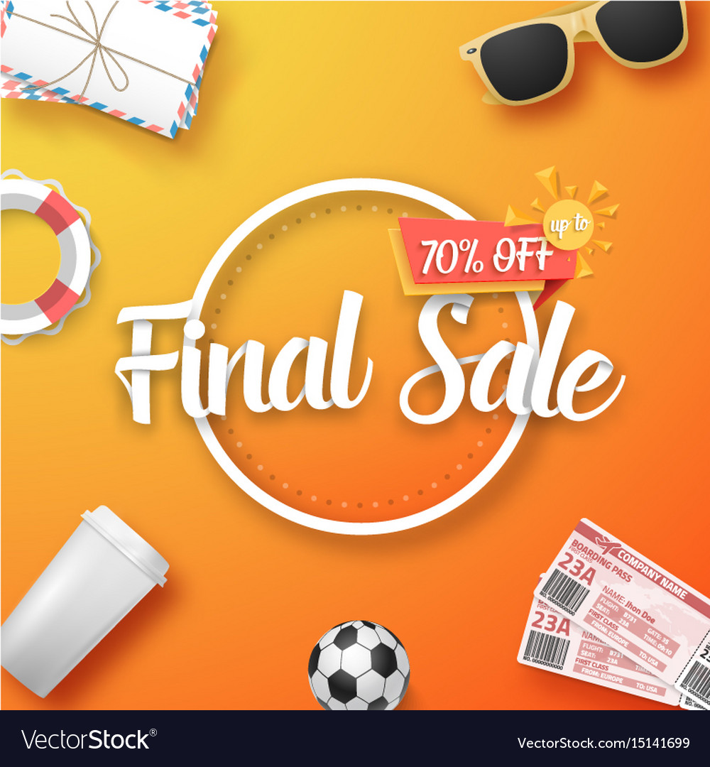 Final sale poster