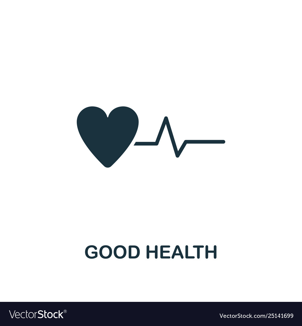 Good health icon creative element design from
