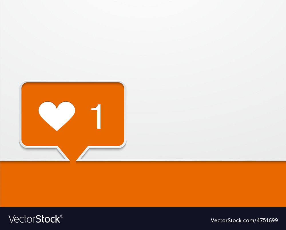 Modern like orange icon vector image